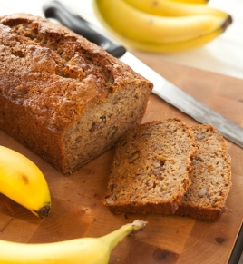 Banana Walnut Bread with Cognac